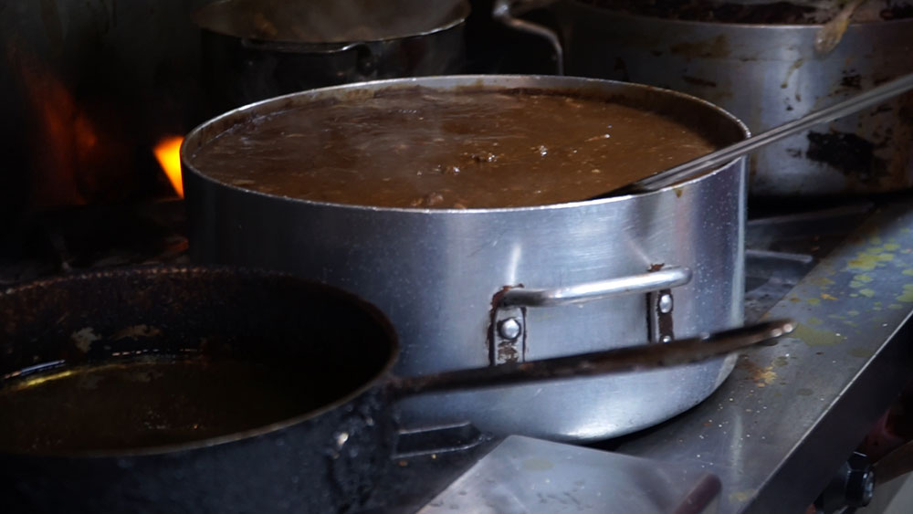 Pan of Curry Goat